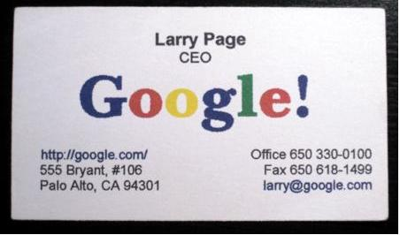 Martinloh blog archive google ceolarry page first business card i believe this was 1st colourmoves