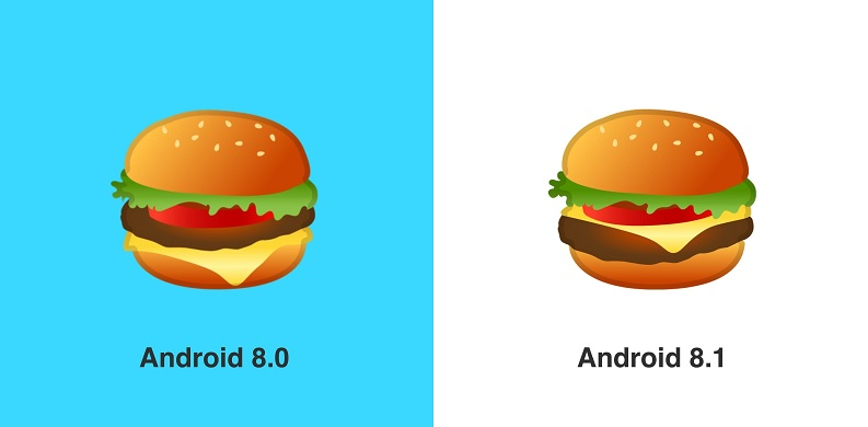 Android 8.1 Burger Emoji